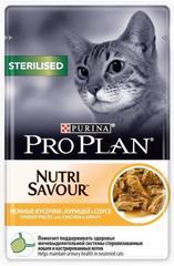 Пауч Purina Pro Plan STERILISED, для стерилизованных кошек,с курицей