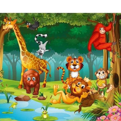 Веселые джунгли 294x260 см