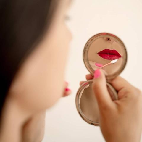 Палочка для макияжа многоразовая LastSwab, персиковая