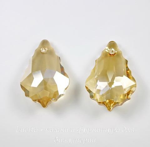 6090 Подвеска Сваровски Baroque Crystal Golden Shadow (16х11 мм)