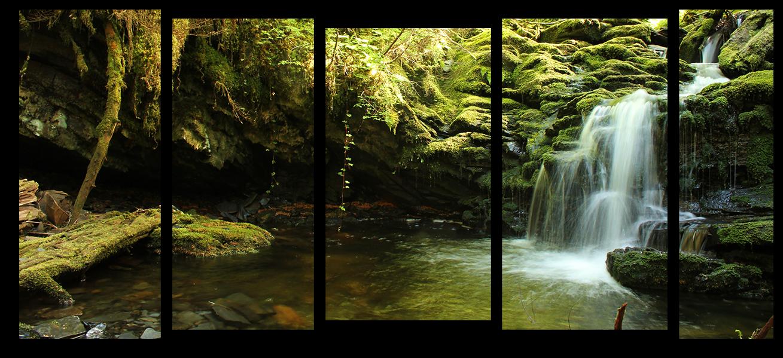 """Природа Модульная картина """"Необычный водопад"""" М993.png"""
