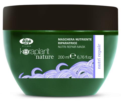 Питательная восстанавливающая маска для волос - Lisap Keraplant Nature Nutri Repair Mask 200 мл