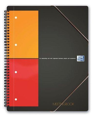 Бизнес-тетрадь International MeetingBook A4+ (24*31см) 80л клетка пластиковая обложка