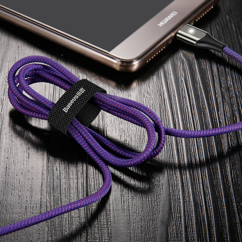Кабель Baseus X-type Light Cable For Type-C 3A 1M Purple