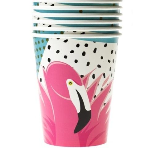 Стакан бум Фламинго 250мл 6шт