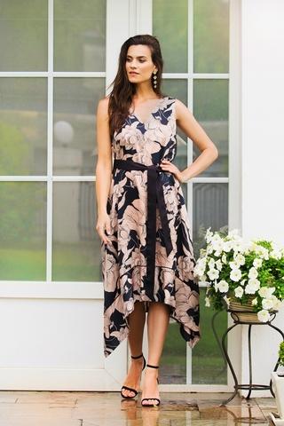 Платье летнее из вискозы крупные цветы (61600) Laete