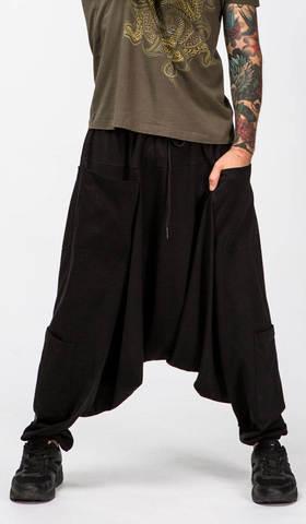 Черные шаровары Джамал для йоги