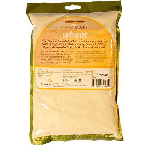Сухой неохмеленный солодовый экстракт Muntons Spraymalt Wheat 0.5 кг.