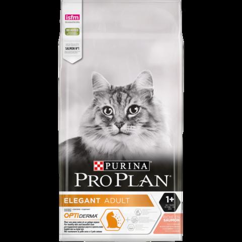 Purina Pro Plan Elegant Adult для взрослых кошек с чувствительной кожей, с лососем 10 кг