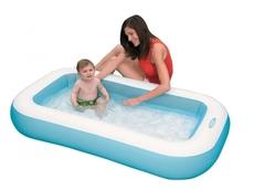 Надувной игровой детский бассейн интекс с надувным дном