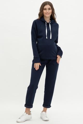 Утепленный спортивный костюм для беременных и кормящих 12013 синий