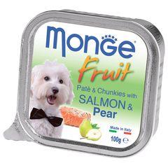 Консервы для собак, Monge Dog Fresh, лосось с грушей