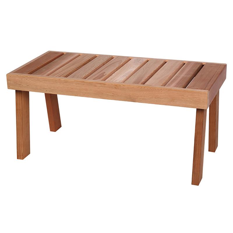 Скамейка для сауны кедровая SAWO 521-D