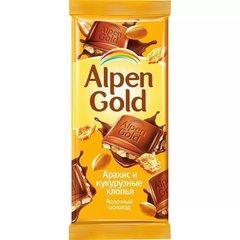 """Шоколад """"Alpen Gold"""" с арахисом и кукурузными хлопьями, 90 г"""