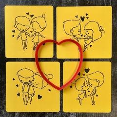 Трафарет любовь №3 Влюбленная пара
