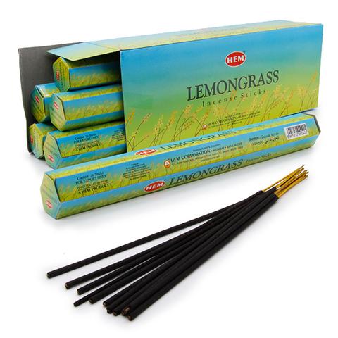 Благовония HEM Hexa LEMONGRASS аромапалочки Лимонник, 20 г (20 ароматических палочек)