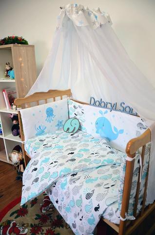 Защита-бортики в кроватку для новорожденных от комплекта Леко Белый
