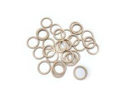 Кольцо для бретели бежево-серебристое 10 мм