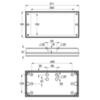 Размеры светодиодного светильника IP65 аварийного освещения серии SOLID Zone MIDBAY