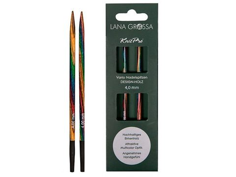 Lana Grossa Разъёмные спицы, дерево (разноцветное)