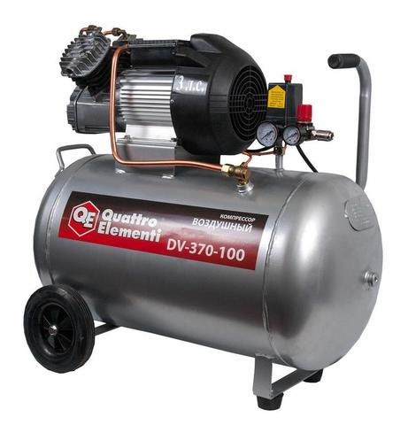 Компрессор поршневой масляный QUATTRO ELEMENTI DV-400-100 (400 л/мин, 100л, 3л.с, 8 бар, 5 (771-718), шт