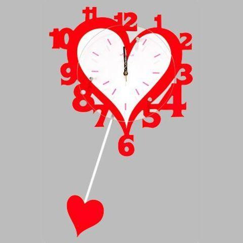 Часы настенные - Сердечко
