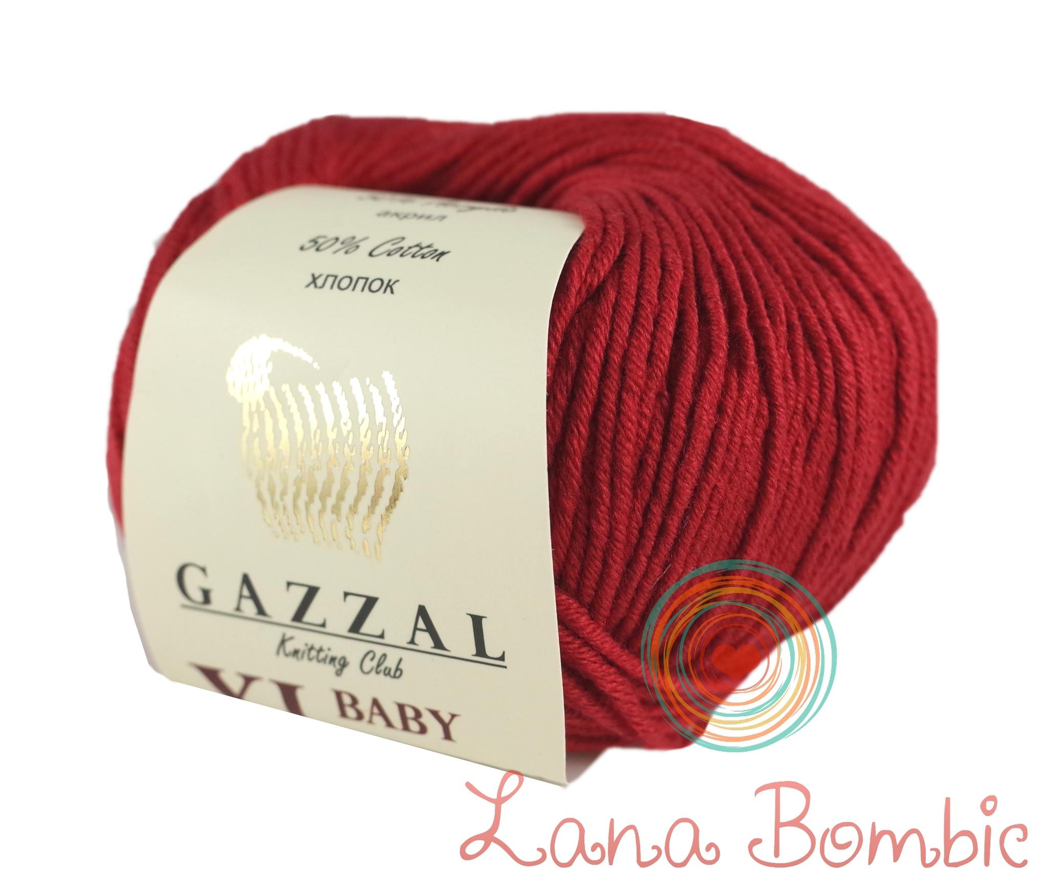 Пряжа Gazzal Baby Cotton XL 3439 красный