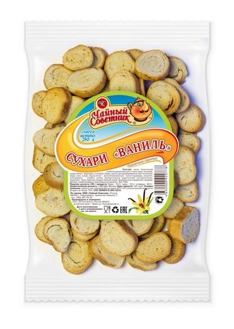 """Сухарики """"Алтайские сухарики"""" пшеничные сдобные ваниль 250г"""