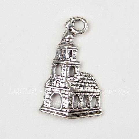 "Подвеска ""Замок"" (цвет - античное серебро) 22х14 мм"