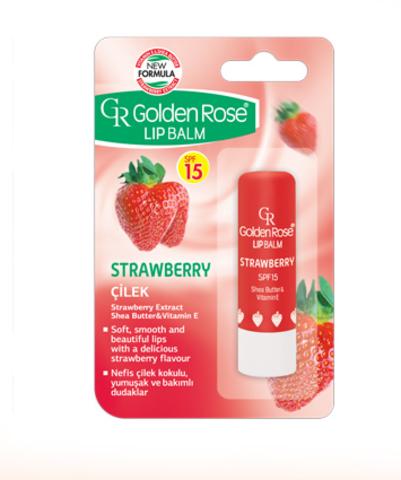 Golden Rose Бальзам для губ Lipbalm STRAWBERRY SPF15