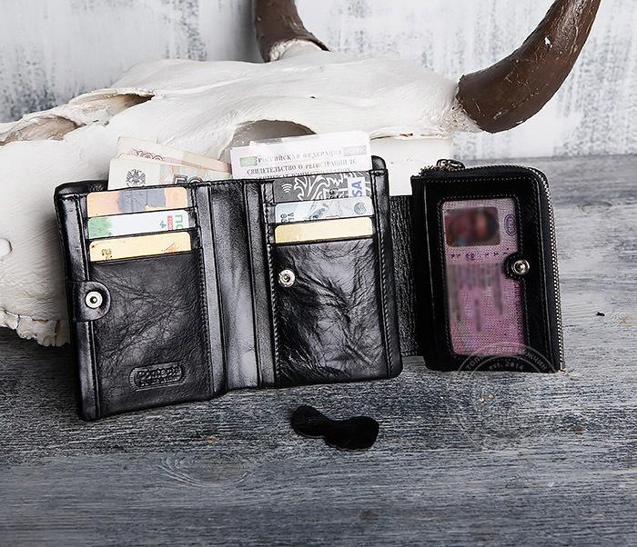 WL280-1 Вместительный мужской кошелек с монетницей фото 11