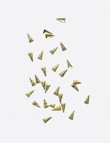 ARTEX Полусферы треугольники граненные шлифованные золото 1,5х3 мм