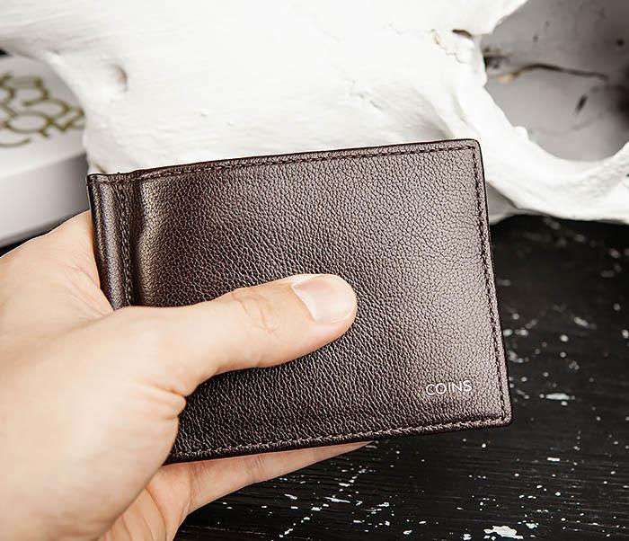 WL322-2 Коричневый зажим для денег из натуральной кожи, «Atos» фото 10