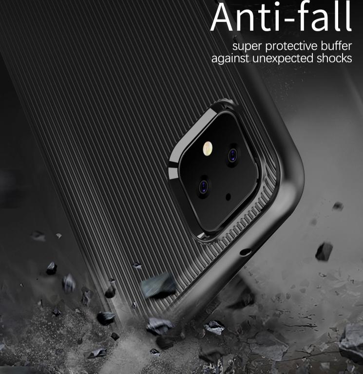 Чехол на Google Pixel 4 цвет Black (черный), серия Bevel от Caseport