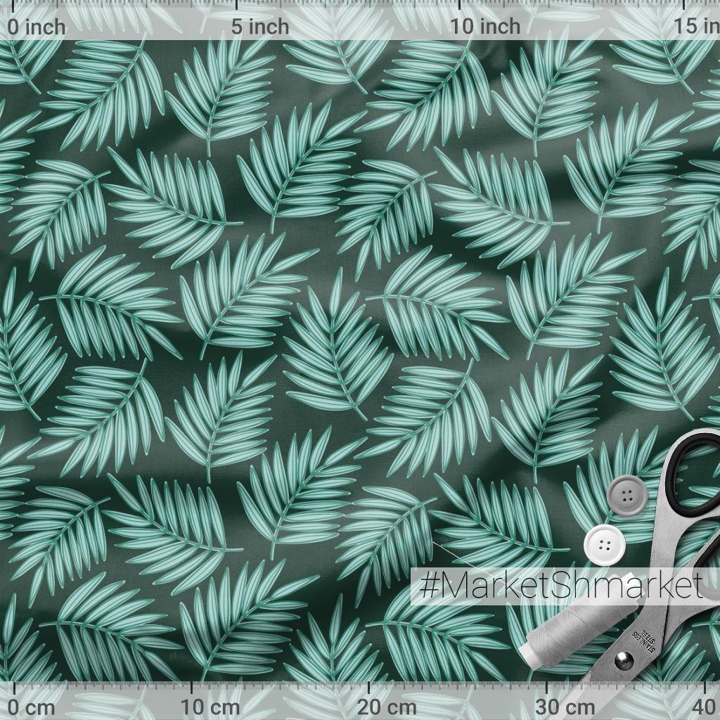 Листья пальмы на темном фоне