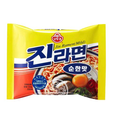 Лапша б/п OTTOGI Джин Рамён не острый вкус 120г Южная Корея