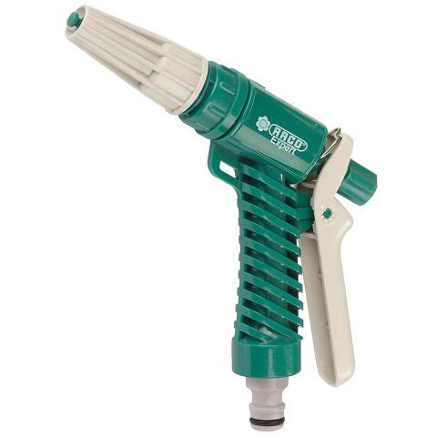 Пистолет поливочный пластиковый, плавная регулировка, курок сзади RACO