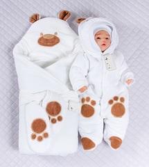 Набор на выписку зимой Little Bear белый