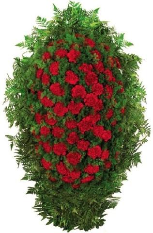 Траурный венок из живых цветов ВЖ 09 -180 см