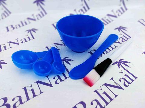 Набор для смешивания масок (5 предметов) голубой