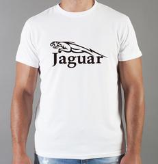 Футболка с принтом Ягуар (Jaguar) белая 002