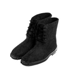 Ботинки на противоскользящей резиновой подошве, черные