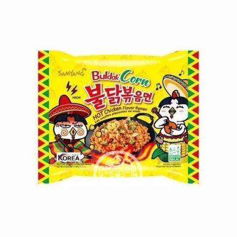 Лапша б/п Hot chiken flavor ramen Corn со вкусом курицы и кукурузы 130г Samyang Корея