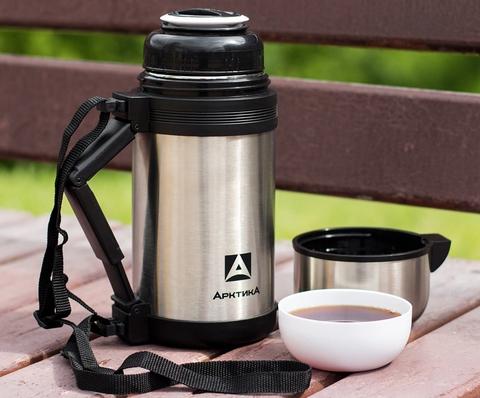 Термос универсальный (для еды и напитков) Арктика (1,8 литра) с широким горлом, стальной
