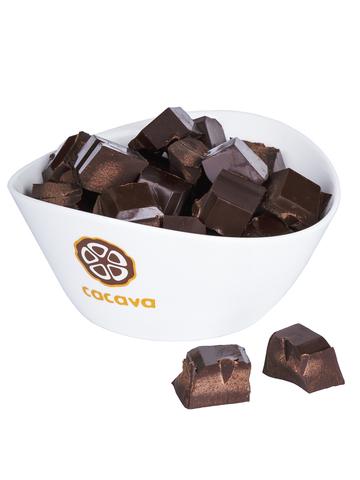 Какао тёртое кусочками (Перу, Organic Satipo), внешний вид