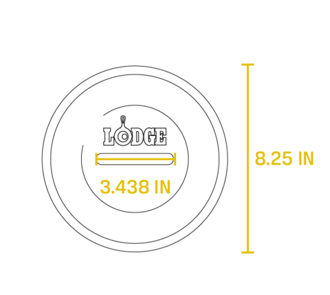 Жаровня круглая с крышкой 2 л  , артикул L2SP3