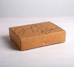 Коробка складная крафтовая Gift box, 21 × 15 × 5 см, 1 шт.