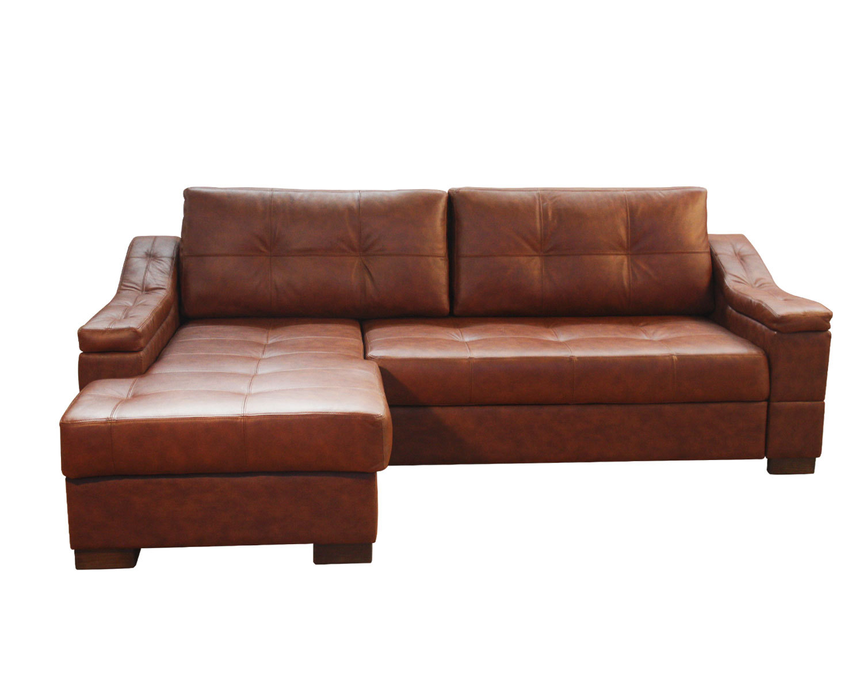 Угловой диван Макс П5 1я2д, натуральная кожа + козжам