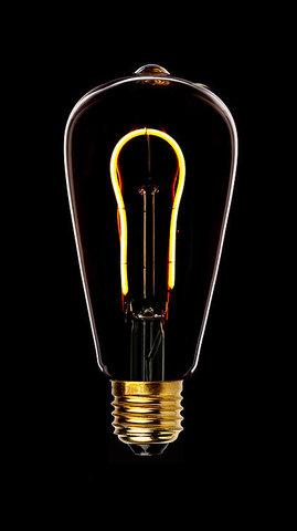 Светодиодная ретро лампа ST64 SF-U LED 3W E27