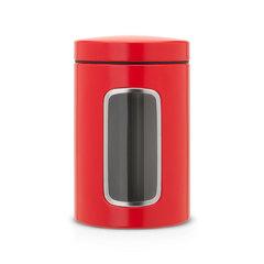 Контейнер для сыпучих продуктов с окном (1,4 л), Пламенно-красный